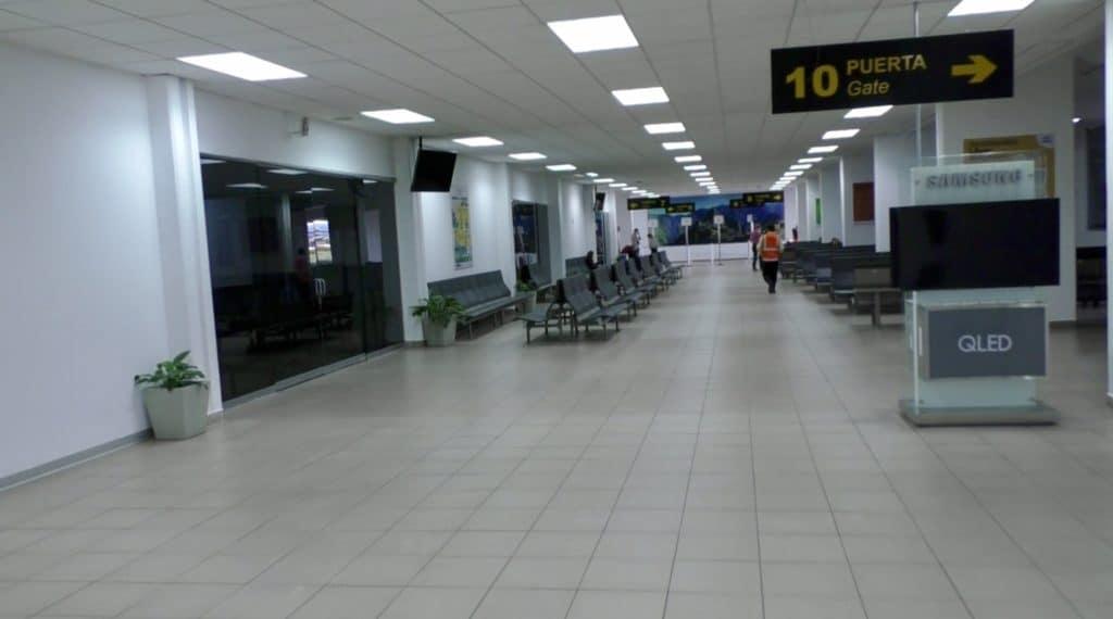 Der Flughafen scheint wie leergefegt in Cusco, Peru.