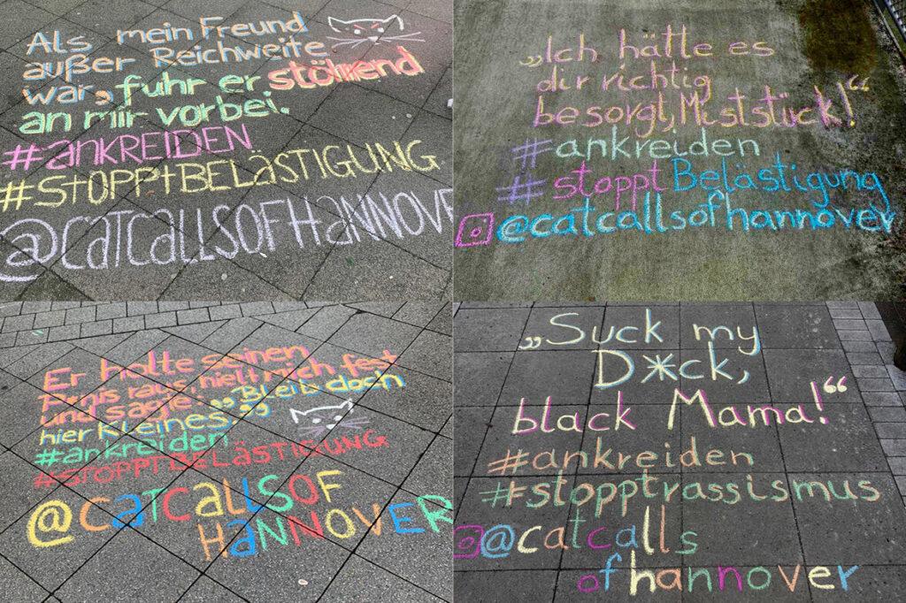 Chalk Back auf Straße