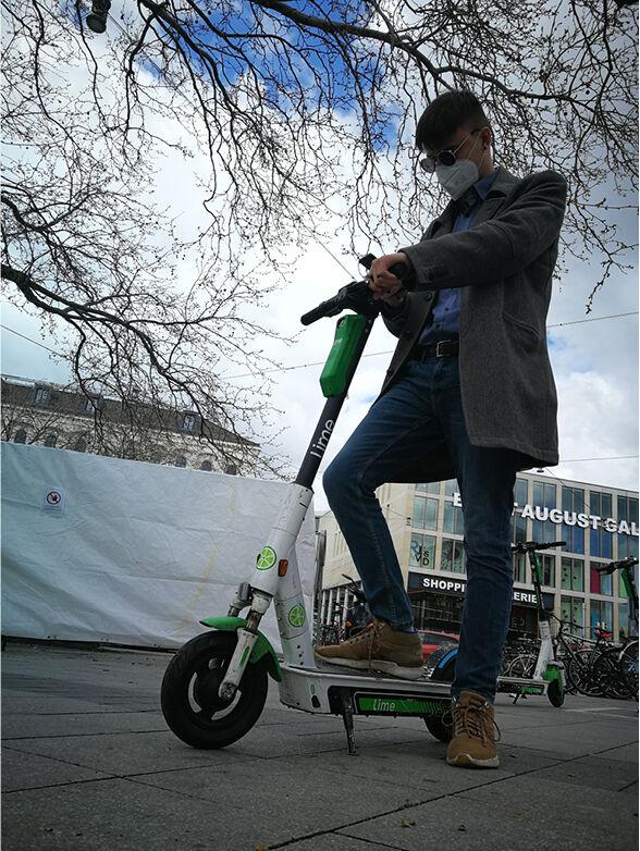 E-Scooter per Handy mieten.